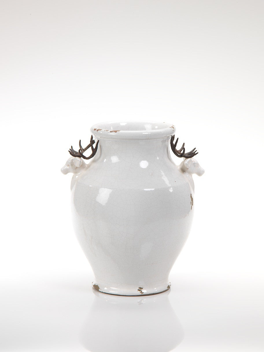 Terracotta Stag Head Vase