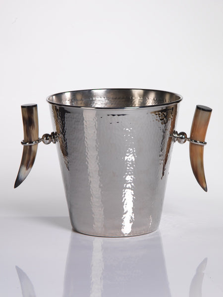 ICE BUCKET WITH HORN HANDLES