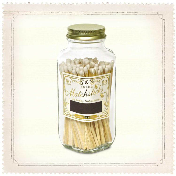 MATCHSTICK BOTTLE WHITE/GOLD
