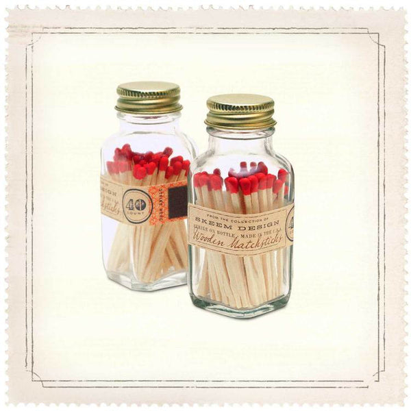 MINI ANTIQUE LABEL MATCHSTICK BOTTLES