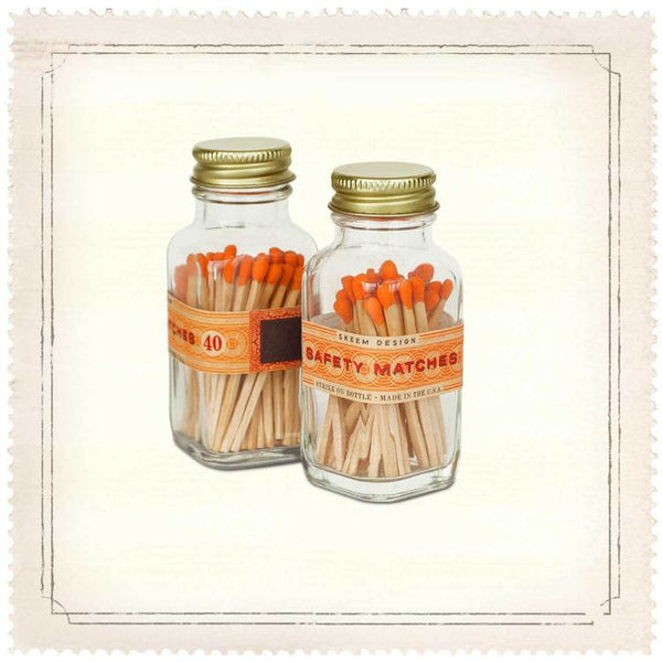 MINI ORANGE MATCH BOTTLE