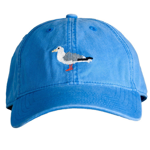 HAT SEAGULL ON BLUE