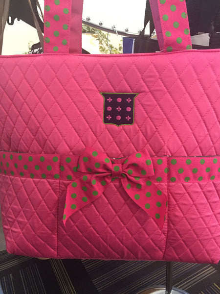 Mimi Quilted Ribbon Tote