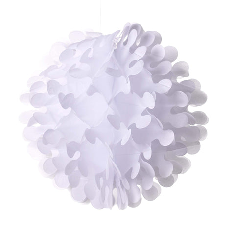 "19"" White Tissue Flutter Ball Oktoberfest Party Decorations - OktoberfestHaus.com"