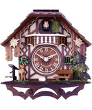 Musical Cuckoo Clock Cottage With Deer, Water Pump, And Tree- 10 Inches Tall - OktoberfestHaus.com  - 2
