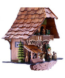 Musical Black Forest Cuckoo Clock With Dancers, Waterwheel, And Beer Drinker - 14 Inches Tall - OktoberfestHaus.com  - 4