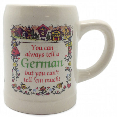 "German Coffee Mug: ""You Can Always Tell a German"" - OktoberfestHaus.com  - 1"