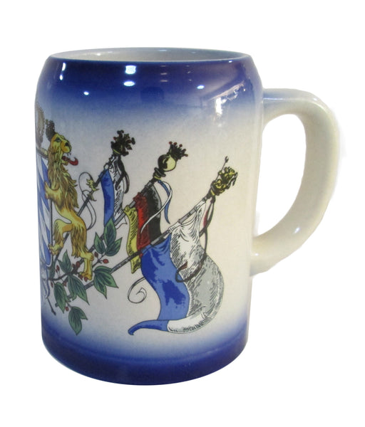 German Coffee Cup with Bavarian Coat of Arms - OktoberfestHaus.com