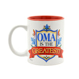 """Oma is the Greatest"" Gift for Oma Mug - 3 - OktoberfestHaus.com"