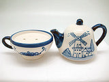 Ceramic Salt and Pepper Shakers: Tea Cup/Pot - OktoberfestHaus.com  - 1