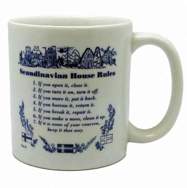 "Danish Gift Coffee Cup ""Scandinavian House Rules"" - OktoberfestHaus.com  - 1"