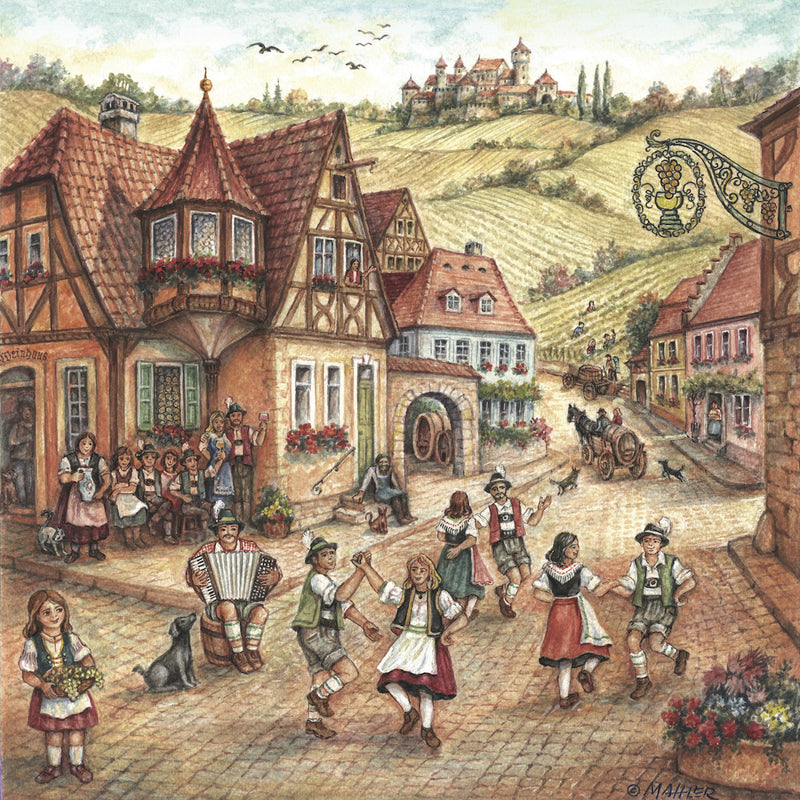 German Village Dancers Ceramic Tile - OktoberfestHaus.com  - 1