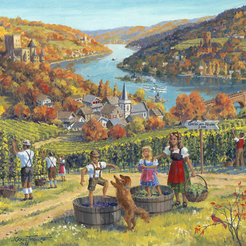 Seasons of Germany Collectors Tile Fall - OktoberfestHaus.com  - 1