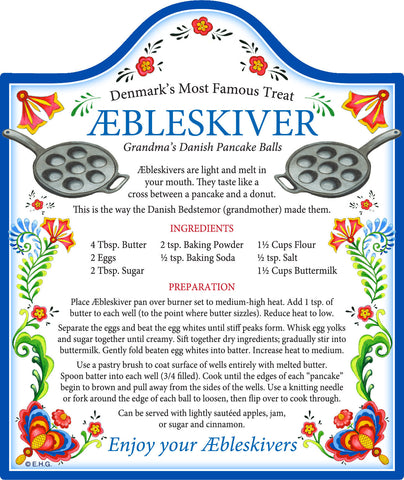 Danish Aebleskiver Recipe Decorative Trivet - OktoberfestHaus.com