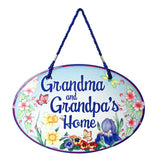 "Welcome Sign ""Grandma & Grandpa's Home"" Decorative Sign"