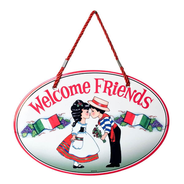 Italian Welcome Decor Door Sign