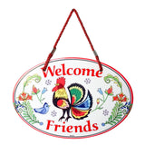 """Welcome"" Rooster Decor Door Sign"