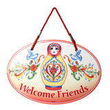"Russian Nesting Doll ""Welcome"" Decor Door Sign"