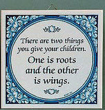 Inspirational Wall Plaque: Give Children Wings.. - OktoberfestHaus.com  - 2