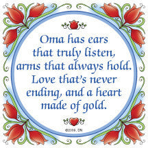 Gift For Oma: Oma Heart of Gold.. - OktoberfestHaus.com  - 1