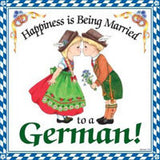 German Gift Wall Plaque Tile: Happy German - OktoberfestHaus.com  - 1