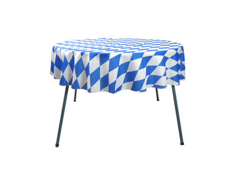 Oktoberfest Party Bavarian Checkered Polyester Tablecloth - OktoberfestHaus.com