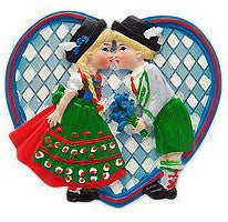 Wedding Favor Fridge Magnet German Kissing Couple - OktoberfestHaus.com