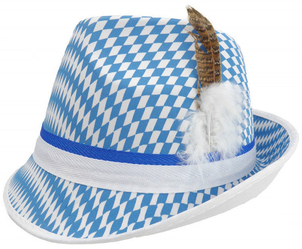 Oktoberfest Hat Bavarian Checkered - OktoberfestHaus.com  - 1