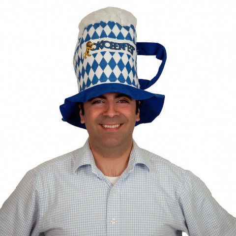 Oktoberfest Party Hat Beer Stein Shaped Hat - OktoberfestHaus.com  - 1