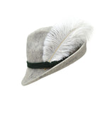 White Hat Feather for Oktoberfest Festival Hats - 1 - OktoberfestHaus.com