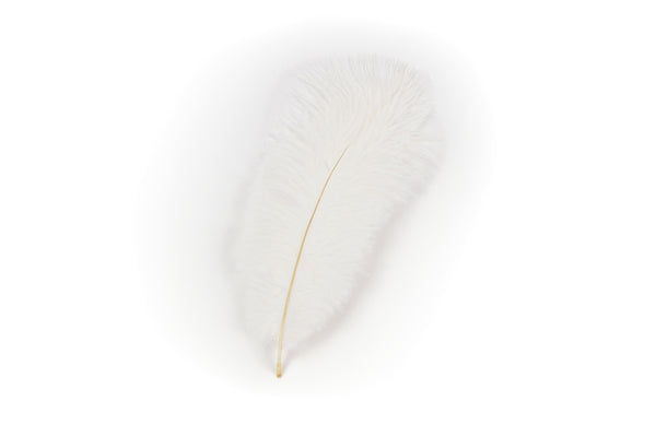 White Hat Feather for Oktoberfest Festival Hats - 2 - OktoberfestHaus.com