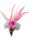 Oktoberfest Hat Feather Edelweiss Pink & White Hat Pin - OktoberfestHaus.com