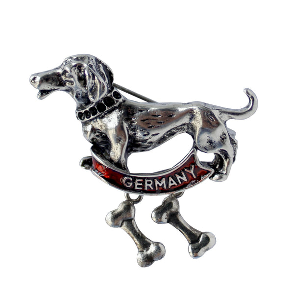 Dachshund Dog Germany Banner Hat Pin