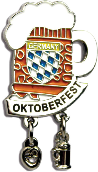 "Iconic ""Oktoberfest"" Hat Pins Beer Mug"