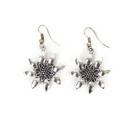 German Edelweiss Earrings - OktoberfestHaus.com  - 1