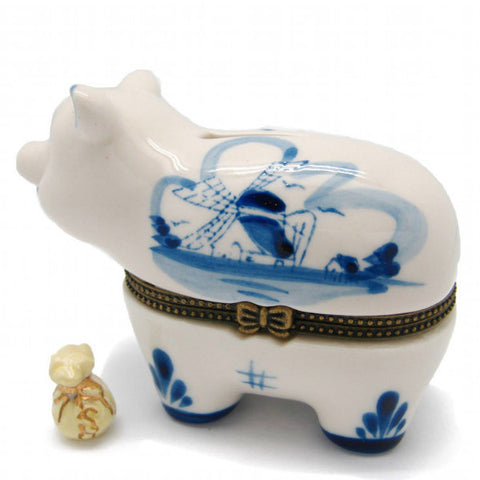 Children's Jewelry Boxes Delft Piggy Bank - OktoberfestHaus.com  - 1
