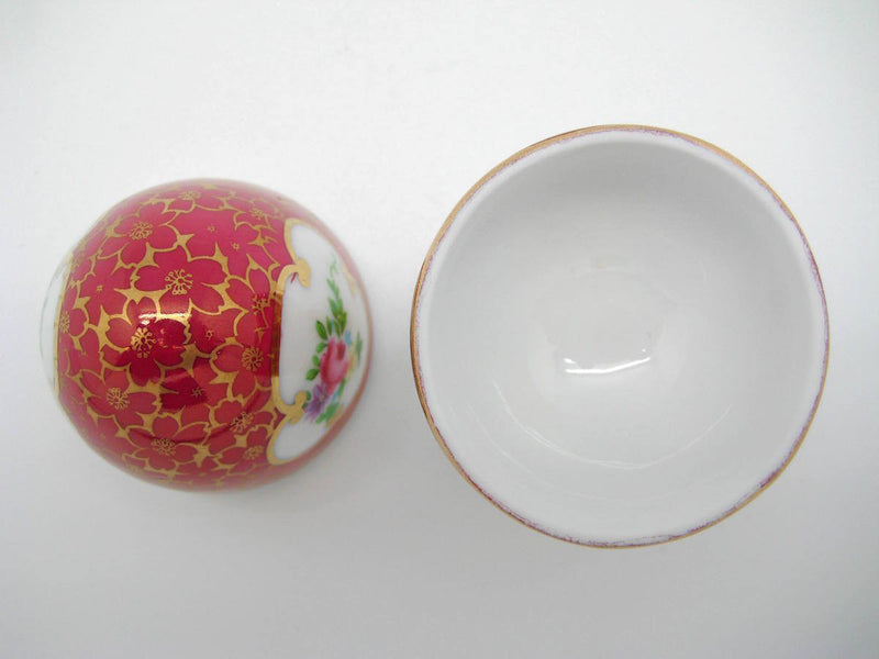 Vintage Victorian Antique Egg Jewelry Box Antique Red - OktoberfestHaus.com  - 2