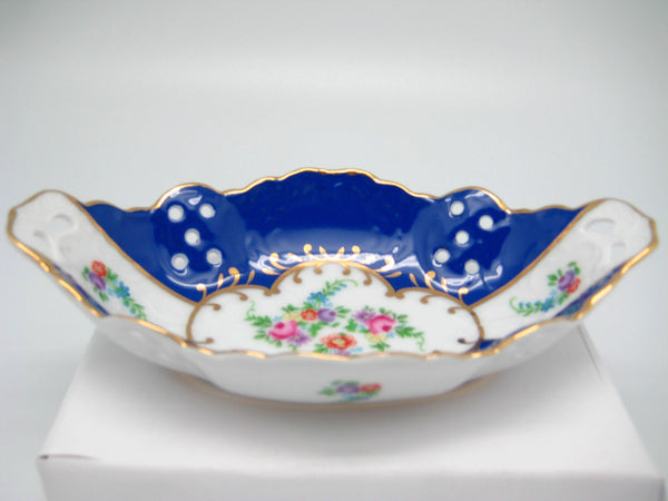 Vintage Victorian Antique Dish Jewelry Box Royal Blue - OktoberfestHaus.com  - 1