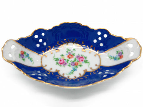Victorian Jewelry Box Classic Blue Dish Jewelry Box