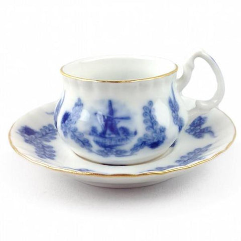 Porcelain Mini Tea Set Delft Cup and Saucer - DutchGiftOutlet  - 1