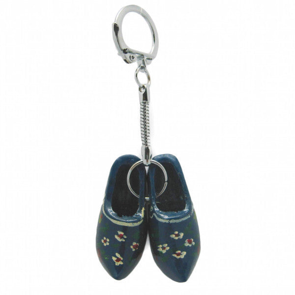 Holland Wooden Shoes Blue Keychain