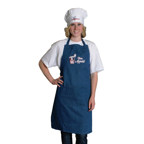 Novelty Aprons For Men: Bon Appetit! Denim Apron
