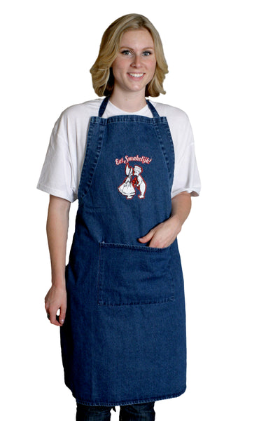 Dutch Gift Idea Eet Smakelijk! Denim Apron