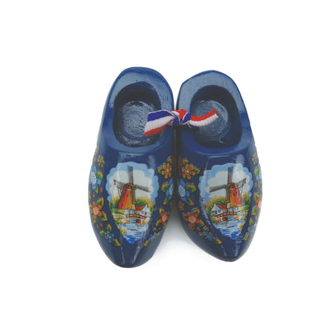 Holland Wooden Shoes Magnet Blue
