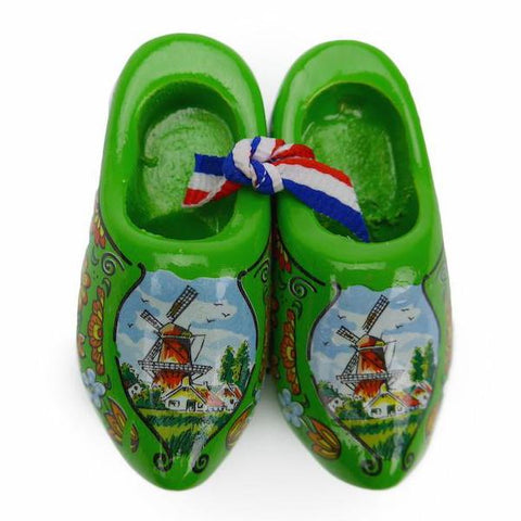 Wooden Shoes Magnetic Gift Green - OktoberfestHaus.com  - 1