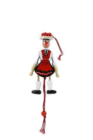 Bavarian Girl Jumping Jack Fridge Magnet - DutchGiftOutlet