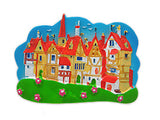Kitchen Magnet Idea German Village Scene - OktoberfestHaus.com  - 1