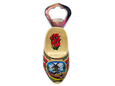 Unique Bottle Opener Fridge Magnet Natural Wooden Shoe - OktoberfestHaus.com