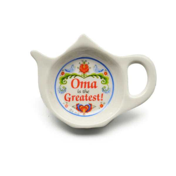 """Oma is the Greatest"" Teapot Magnet with Birds Design  - OktoberfestHaus.com"