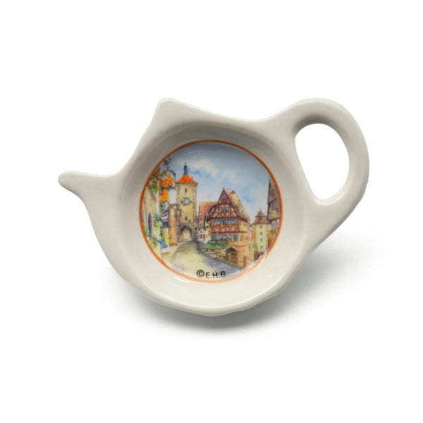 Rothenburg Village Scene Teapot Magnet Teabag Holder - 1 - OktoberfestHaus.com